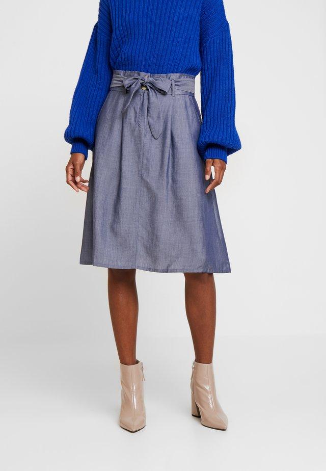 AVA SKIRT - Spódnica trapezowa - blue