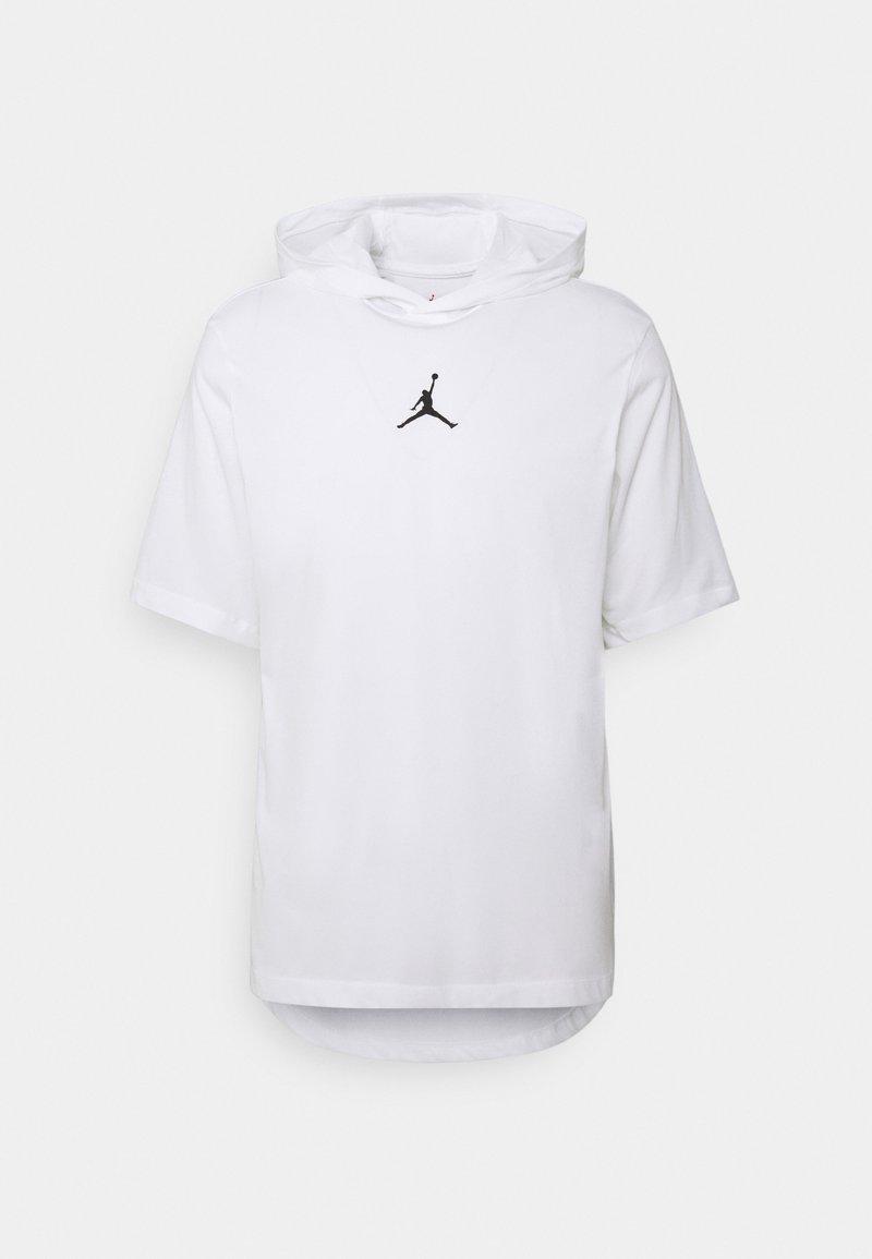 Jordan - AIR HOODIE TEE - Camiseta estampada - white/black
