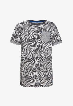 MIT BLÄTTERMUSTER - T-shirt print - anthracite