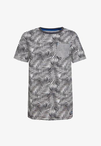 MIT BLÄTTERMUSTER - Print T-shirt - anthracite
