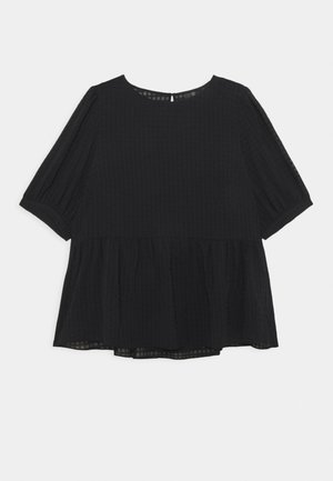 TEXTURED SMOCK  - Blouse - black