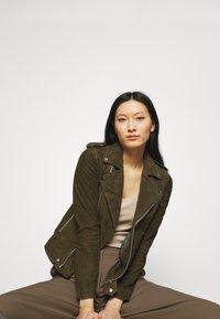 Deadwood - RIVER - Leather jacket - gobi - 3