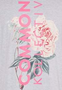 Common Kollectiv - FLORAL UNISEX - T-shirt print - grey marl - 6