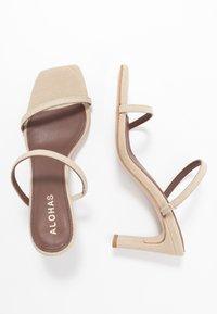 ALOHAS - CANNES - Heeled mules - beige - 3