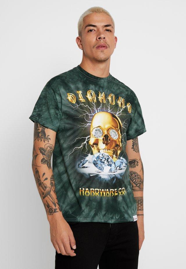 GOLD SKULL TIE DYE - T-shirt imprimé - green