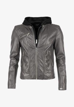 Leather jacket - dark grey