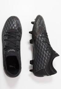 Puma - FUTURE 5.4 FG/AG - Moulded stud football boots - black/asphalt - 1