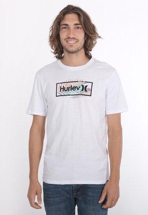 EVD WSH FAST PALMS SS - T-shirt print - white