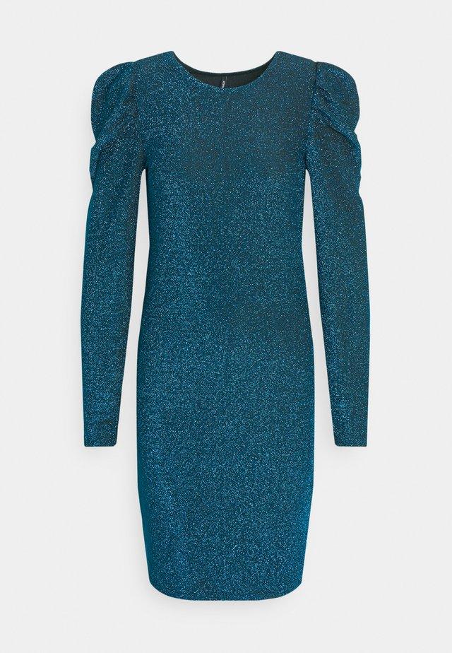 ONLDARLING GLITTER PUFF DRESS - Sukienka koktajlowa - black/bristol blue