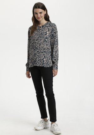 Blouse - blue sand abstract animal