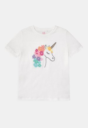 STEVIE EMBELLISHED - Print T-shirt - vanilla