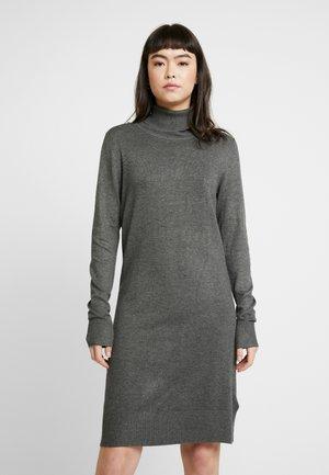 DRESS HIGH NECK - Jumper dress - grey