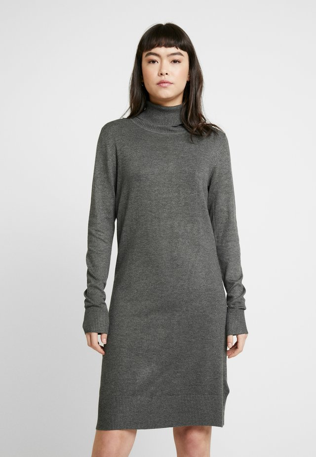DRESS HIGH NECK - Neulemekko - grey