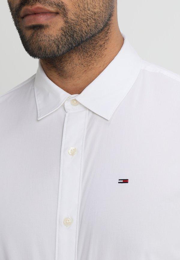 Tommy Jeans ORIGINAL STRETCH - Koszula - classic white/biały Odzież Męska RLGJ