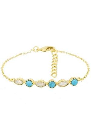 FANTAISIE - Armband - gold / blue