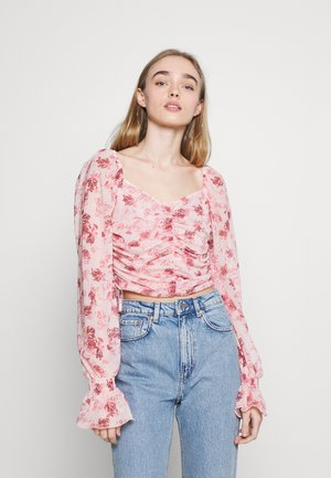 GATHERED - Long sleeved top - rose