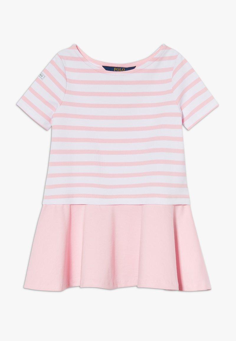 Polo Ralph Lauren - Jersey dress - white/carmel pink