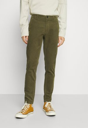 CROPPED PANTS - Tygbyxor - army