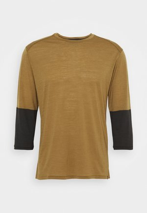 3/4 SLEEVE BIKE - T-shirt à manches longues - mulch/brown