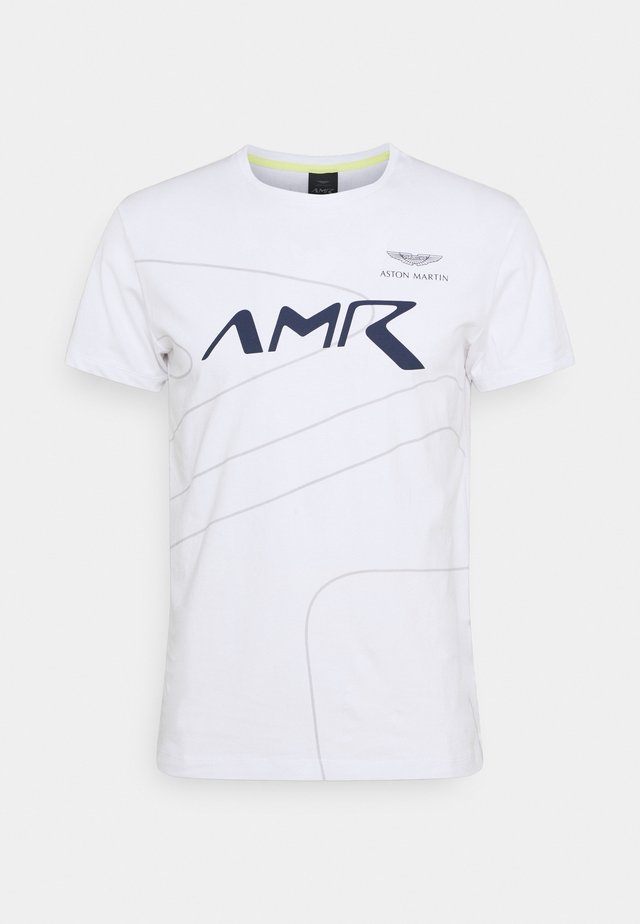 RACING LINES TEE - T-shirt - bas - white