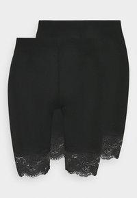 Gina Tricot - BASIC BIKER LACE 2 PACK - Shorts - black - 3