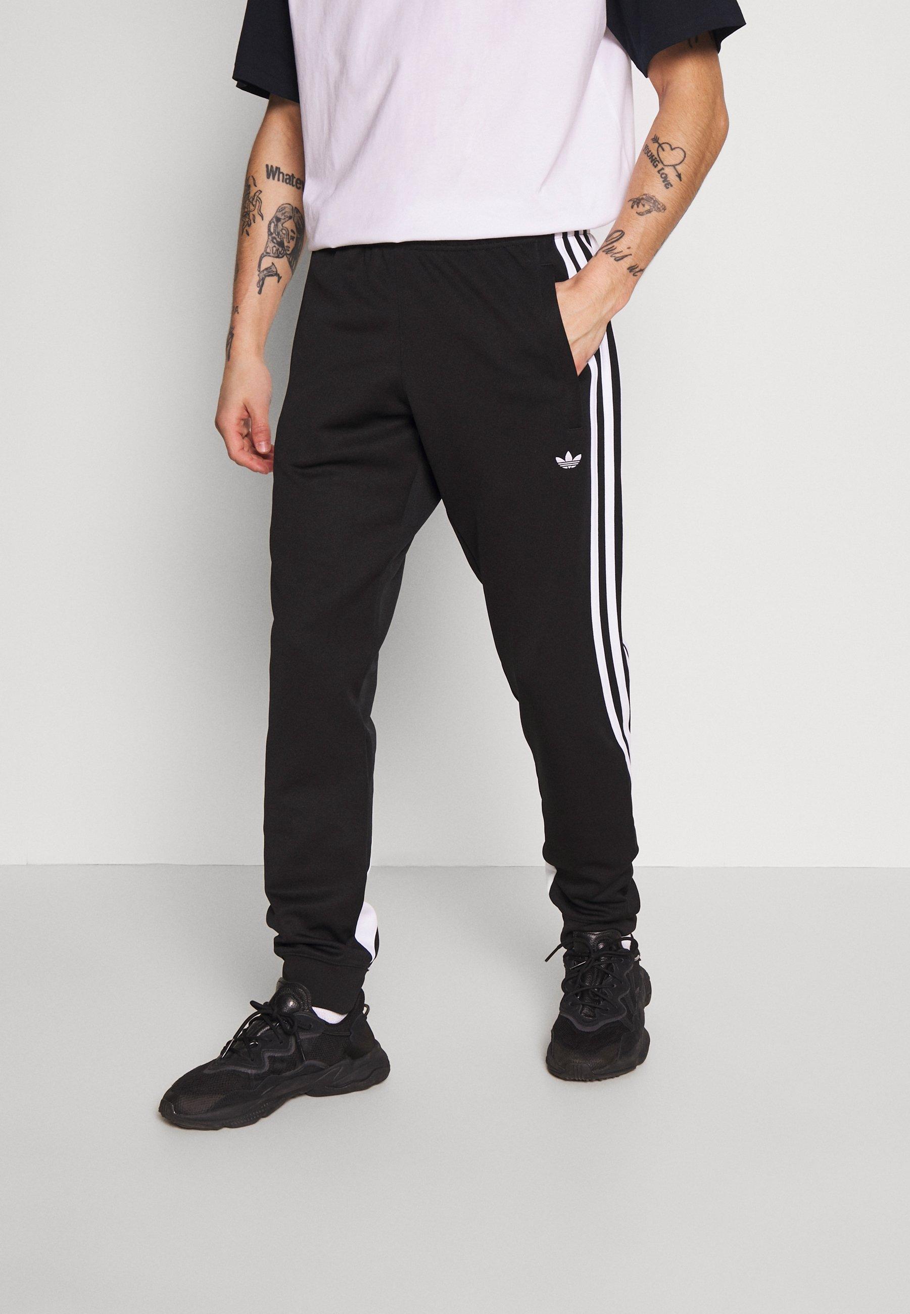 3STRIPES WRAP TRACK PANTS - Trainingsbroek - black/white