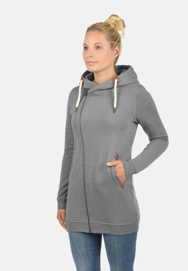 VICKY - Zip-up hoodie - grey melange
