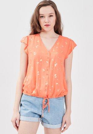 Blouse - orange corail