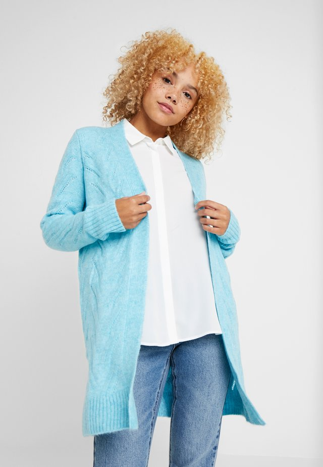 POINTELLE CARDI - Cardigan - light blue heather