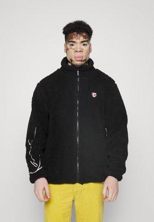 SIGNATURE BLOCK JACKET UNISEX - Fleece jacket - black