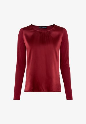 Long sleeved top - ruby red