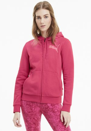 Zip-up hoodie - glowing pink