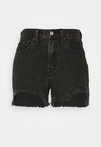 Abercrombie & Fitch - CURVE LOVE MID RISE BOYFRIEND - Denim shorts - black - 0
