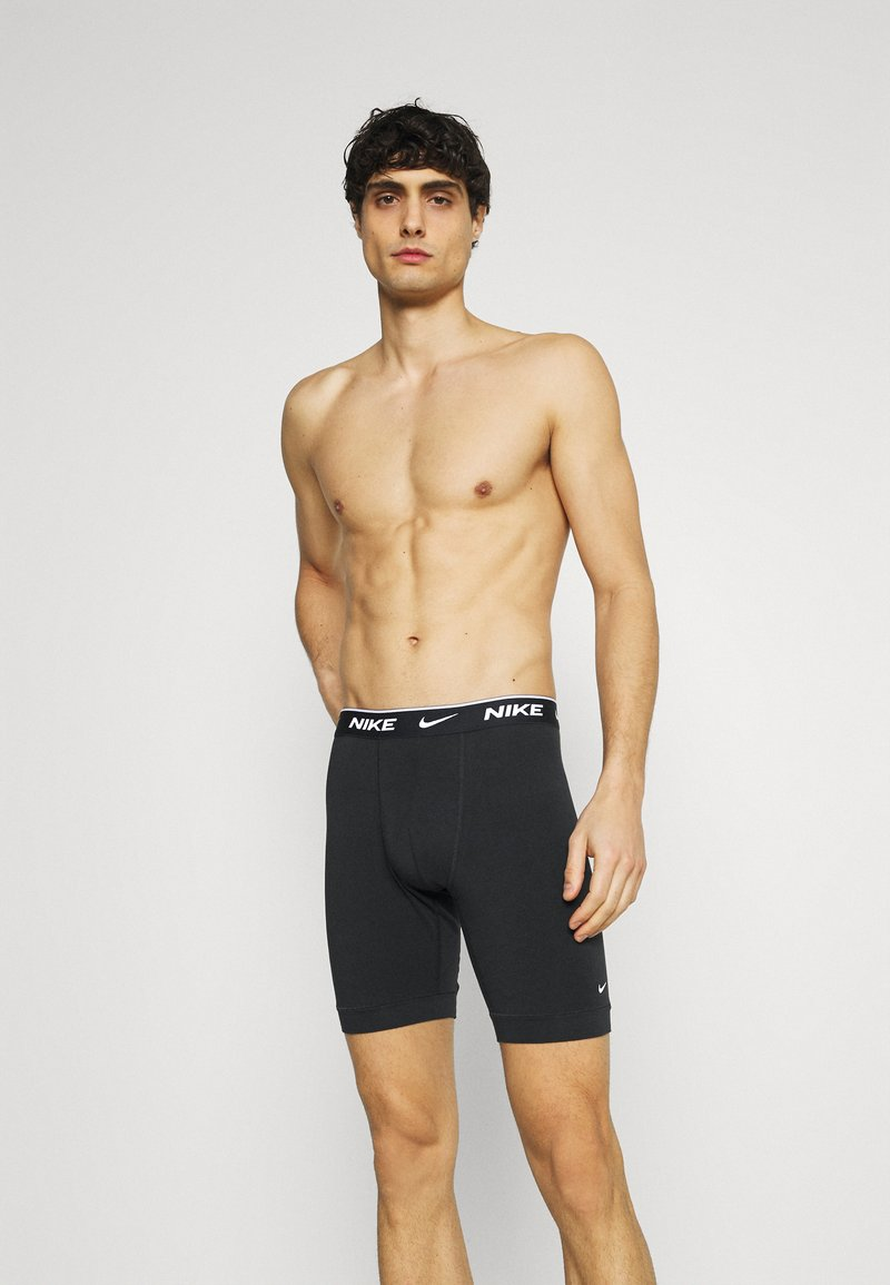 Nike Underwear - DAY STRETCH BRIEF LONG 3 PACK - Boxerky - black