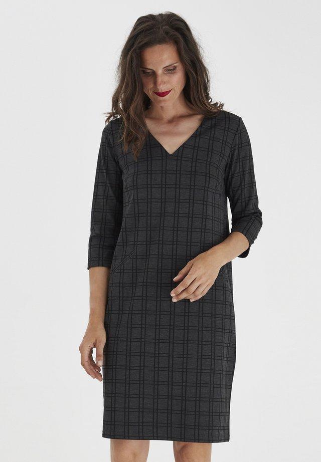 FRMECHECK - Jersey dress - mottled dark grey