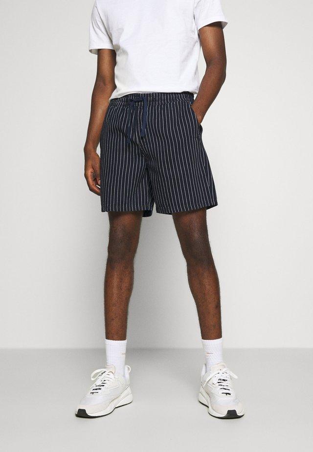 OLSEN STRIPED - Shorts - blue