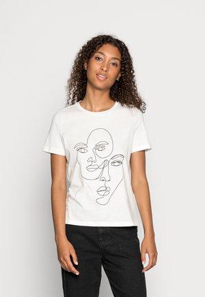 VMARTICAOLLY BOX - Print T-shirt - snow white