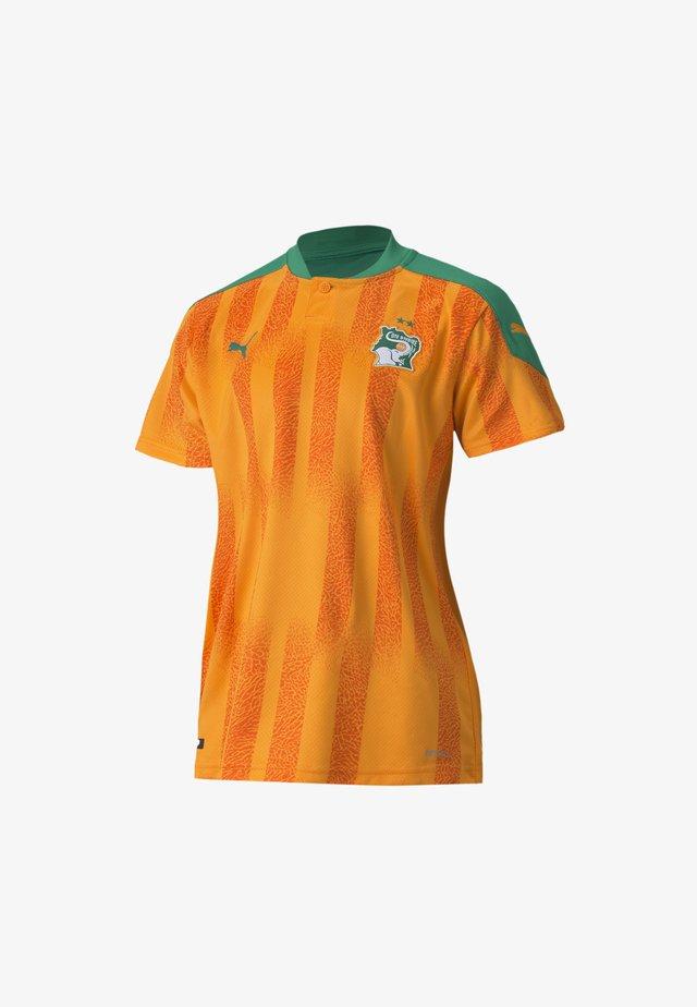 Print T-shirt - flame orange-pepper green