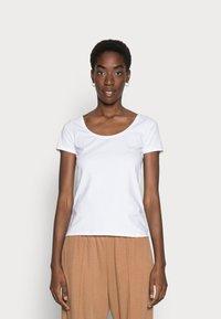 Anna Field - 3 PACK - T-shirts basic - white/black/dark grey - 1