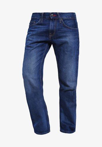 MERCER - Džíny Straight Fit - midle blue