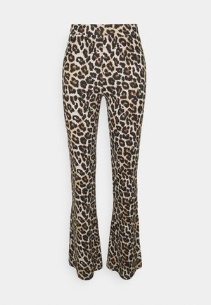 NMPASA FLARED PANTS - Trousers - black