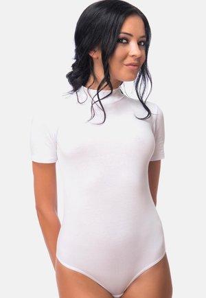 STRINGBODY KURZARM HALBKRAGEN - Basic T-shirt - weiß