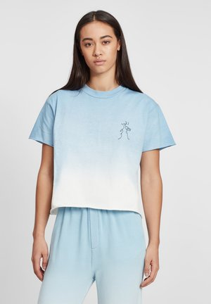 Print T-shirt - blue / ecru