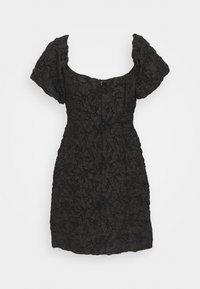Glamorous Petite - PUFF SLEEVE STRUCTURED MINI DRESS - Cocktail dress / Party dress - black brocade - 1