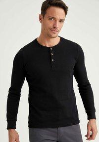 DeFacto - Stickad tröja - black - 0