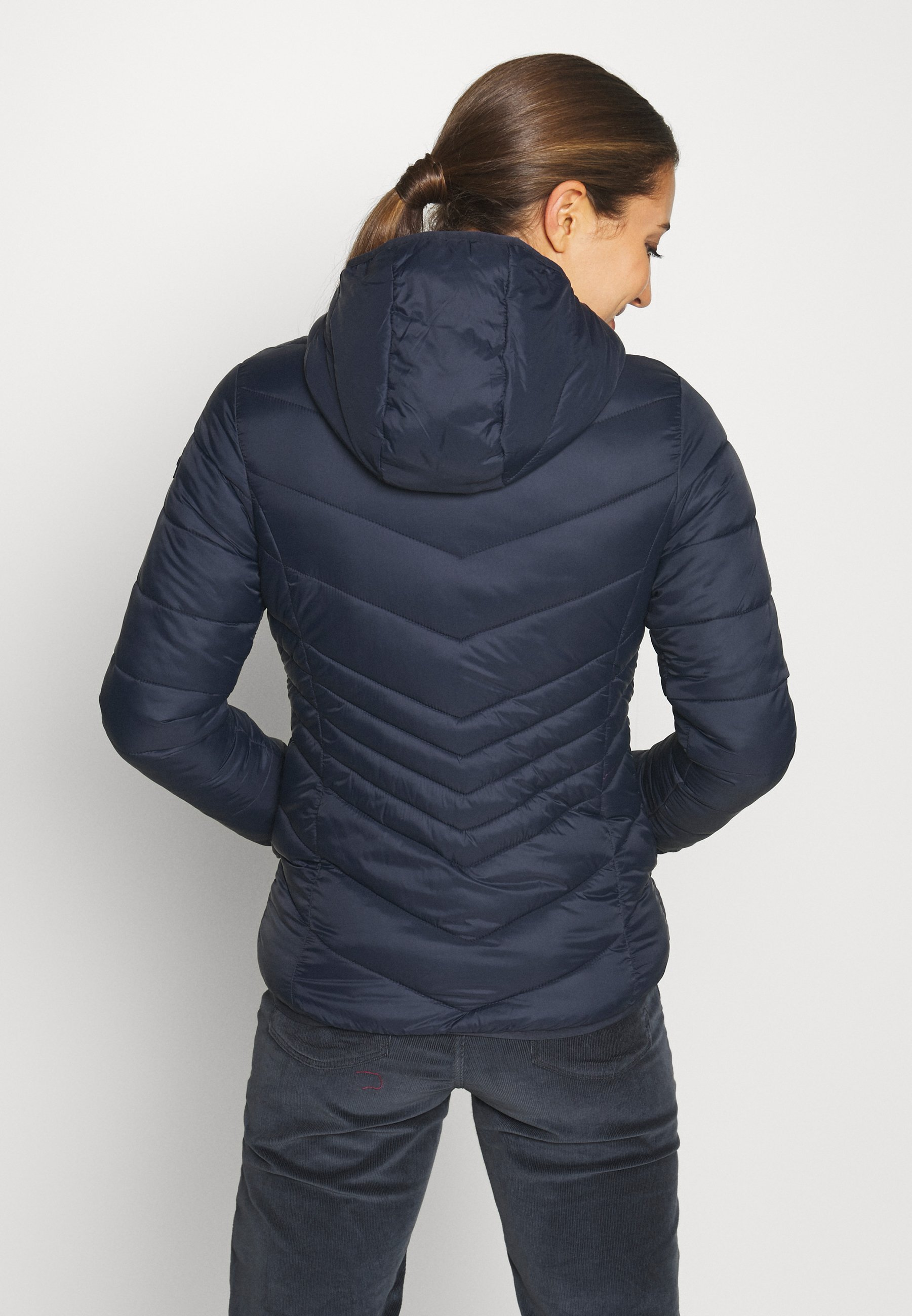 CMP WOMAN JACKET FIX HOOD - Winter jacket - black/blue P0NUV