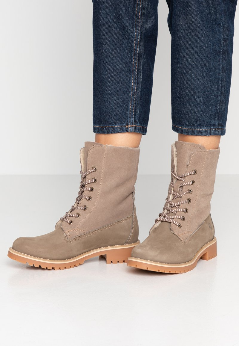 Tamaris - Boots - Lace-up ankle boots - taupe