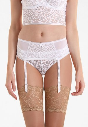 SOIREE SUSPENDER - Jarretels - white
