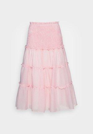 JAZMIN SKIRT - Áčková sukně - candy pink checker