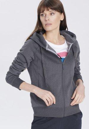 Sweater met rits - grey